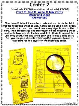 Back to School: Ink Saver, Low Prep! 1st Grade Math Centers (Common Core)