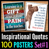 Inspirational Quotes Posters - 100 Classroom Posters - Set 1
