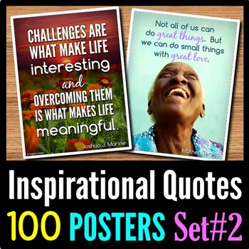 Back to School Inspirational Quotes Posters - 100 Classroom Posters - Set 2