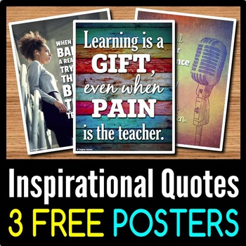 Back to School Inspirational Quotes Posters - 3 Free Classroom Posters