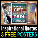 Back to School Inspirational Quotes Posters - 3 Free Class