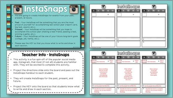 Back to School InstaSnaps (An Instagram Inspired Activity)