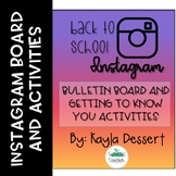 Back to School- Instagram Bulletin Board Activities