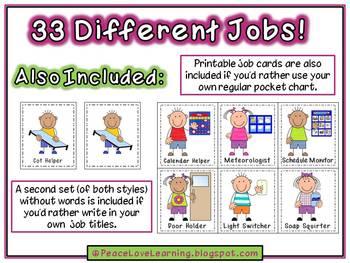 Back to School - Instant Job Chart