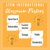 Back to School Instructional STEM Classroom Board Posters