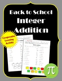 Back to School Integer Addition