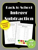 Back to School Integer Subtraction