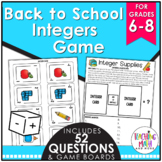Back to School Integers Game