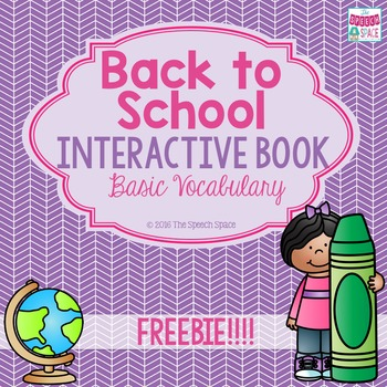 Back to School Interactive Book Freebie