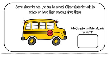 Back to School Interactive Book & Social Story