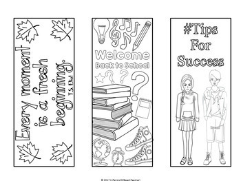 Back to School Interactive Bookmarks