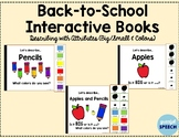 Back-to-School Interactive Books - Describing With Attributes (Color and Size)