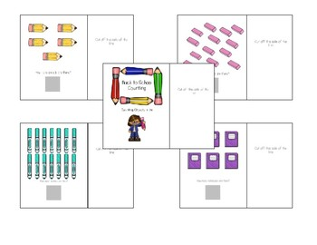 Back to School Interactive Counting Books 1-10 & 11-20