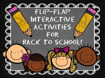 Back to School Interactive Flip-Flap Activities