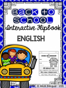 Back to School Interactive Flipbook {ENGLISH}