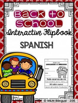 Back to School Interactive Flipbook {SPANISH}