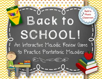 Back to School! Interactive Melodic/Solfa Game - Pentatoni