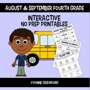 Back to School Interactive No Prep Printables - Fourth Grade