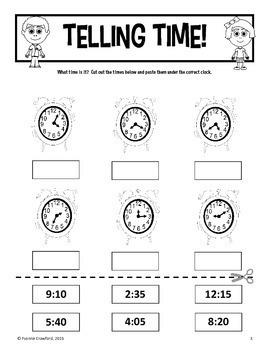 Back to School Interactive No Prep Printables - Third Grade