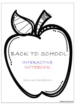 Back to School Interactive Notebook
