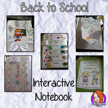 Back to School Interactive Notebook Activity Pack