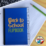 Back to School Interactive Notebook Flip Book (First day of School)