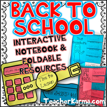 Back to School Interactive Notebook & Foldables