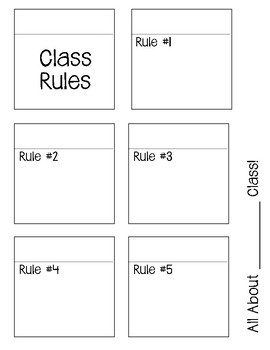 Back to School Interactive Notebook Foldables for Rules, Procedures, and More!