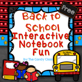 Ice Breakers - Back to School Interactive Notebook Activities