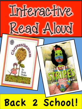 Back to School Interactive Read Aloud! Chrysanthemum and B