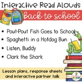 Back to School Interactive Read Alouds Bundle