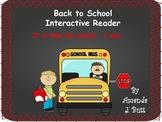 Back to School Interactive Reader; Kindergarten; Autism; S