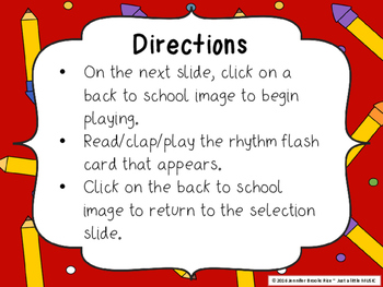 Back to School - Interactive Reading Practice Game {ta-ah}