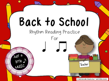 Back to School - Interactive Reading Practice Game {ta titi}