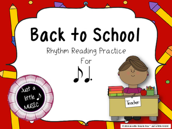 Back to School - Interactive Reading Practice Game {ti tom}