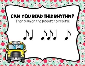 Back to School! Interactive Rhythm Game - Syncopa (STAFF Notation)
