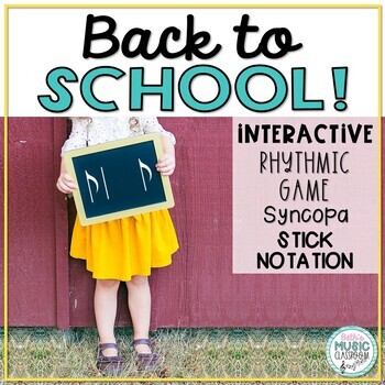 Back to School! Interactive Rhythm Game - Syncopa (Stick Notation)