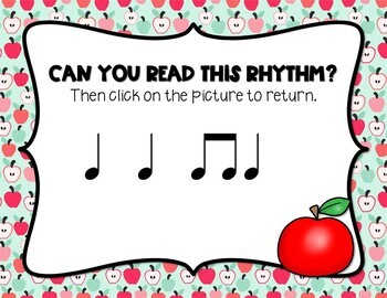 Back to School! Interactive Rhythm Game - Ta, Ti-ti (STAFF Notation)