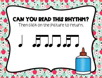 Back to School! Interactive Rhythm Game - Tika-ti/Tiri-ti (STAFF Notation)