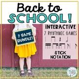 Back to School! Interactive Rhythmic Game - 6-ITEM BUNDLE