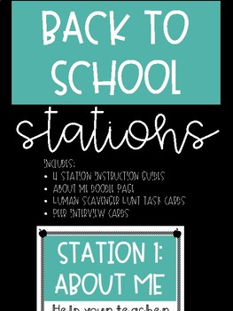 Back to School Interactive Stations