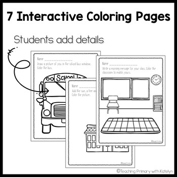 Back to School: Interactive Student Coloring Pages