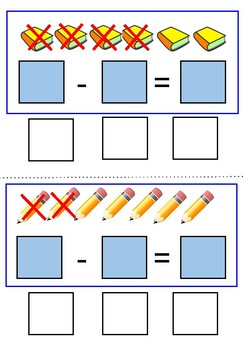 Back to School Interactive Subtraction Cards