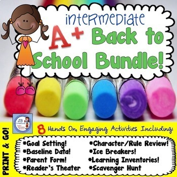 Back to School Intermediate Activity Bundle