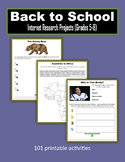 Back to School Internet Research Projects (Grades 5-8)