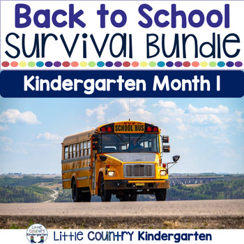 Kindergarten Back to School: First Month Activities