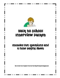 Back to School Interview Questions and Note-taking Sheet