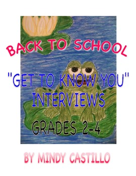 Back to School Interviews- Interview A Class Peer