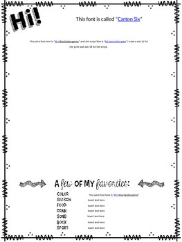 Back to School Intro Letter {editable!}