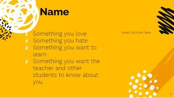 Back to School Introduce Yourself Activity